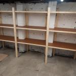 Cellar rack shelving
