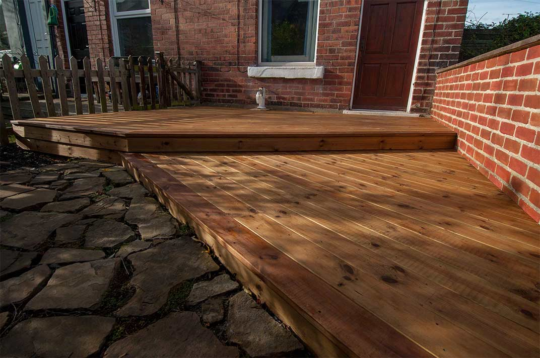Deck completed with stain and deck oil