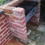 Barbecue complete with recoloured wall and coping stones